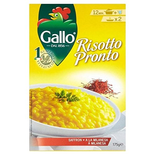 Riso Gallo Risotto Pronto Saffron 175g, 2 Pack