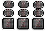 SOYOKO - Almohadillas de gel de repuesto, 9 almohadillas de electrodos, almohadillas de gel para electrodos actualizados, compatible con cinturón de abdominales