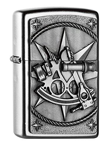 Zippo Zippo 2004654 Sextant Emblem Feuerzeug, Messing Map(language_tag -> De_de)