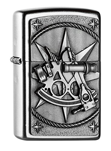 Zippo Zippo 2004654 Sextant Emblem Feuerzeug, Messing Map(language_tag -> De_de)