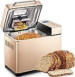 máquina de pan de acero inoxidable, máquinas de pan con pantalla táctil de alta sensibilidad, temporizador de 15 horas, 2 libras de gran capacidad, Dispensador de nueces