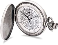 Charles-Hubert Paris 3924 Antique Silver Plated Antique Silver Dial with Date Pocket Watch