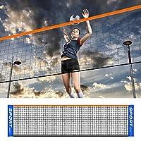 ポータブルバドミントンネット、プロの簡単セットアップバレーボールネット調節可能な折りたたみ式テニス用ピックルボールトレーニング屋内屋外スポーツ