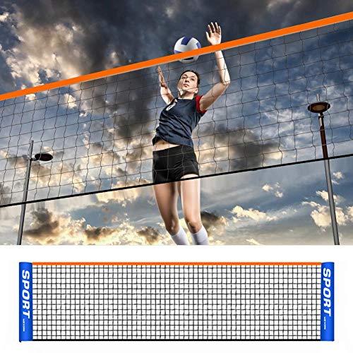 VENTDOUCE Tragbares Volleyballnetz, zusammenklappbares verstellbares Volleyball-Badminton-Tennisnetz Ohne Rahmen für Pool Garten Park Hinterhof-Innen-und Outdoor 3m/4m/5m/6m