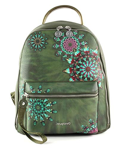Desigual Luna Rock Nazca Mini Backpack Verde Oscuro