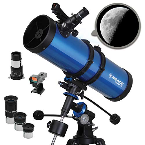 Meade Instruments Polaris 216006 - Telescopio, Reflector Azul, 130mm