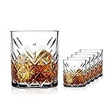 SAHM Gläser Set 6 teilig 200ml | Trinkgläser Set | Timeless Wassergläser Set | Auch ideale Whisky Gläser, Latte Macchiato Gläser & Gin Gläser