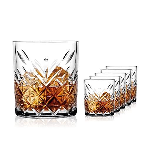 SAHM Gläser Set 6 teilig 200ml   Trinkgläser Set   Timeless Wassergläser Set   Auch ideale Whisky Gläser, Latte Macchiato Gläser & Gin Gläser