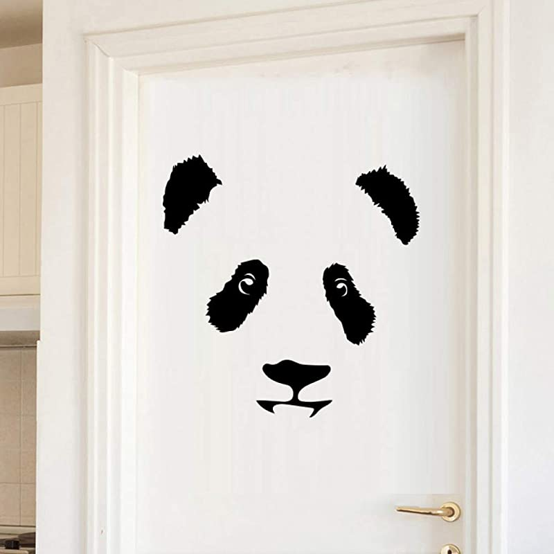 YYQXDD Wall Sticker Cute Pandas Animal Vinyl Wall Stickers For Home Decor Kids Room Bedroom Self Adhesive Waterproof Background Wall Art Decal