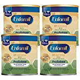 Enfamil ProSobee Soy Sensitive Tummy Baby Formula Dairy-Free Lactose-Free Milk-Free Plant Protein Powder 22 oz. Can (Pack of 4 Cans) Omega 3 DHA & Iron, Immune & Brain Support