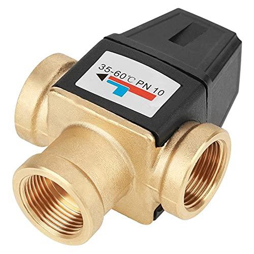SHENG shengyuan Válvula de Mezcla termostática de Rosca Hembra de 3 vías DN20 Fit para Calentador de Agua Solar 1.6MPA Herramientas Accesorio