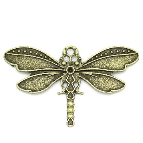 Shape/Type: Charms Pendants (Dragonfly) Colour: Steampunk Antique Bronze Material: Tibetan Size: 43mm Additional: Free of Lead, Nickel and Cadmium
