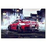 Racing Artwork Toyota Supra Sportwagen Poster Wandkunst