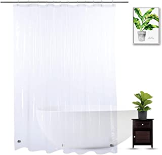WellColor Shower Curtain Liner 74 inches Long, EVA Heavy Duty Longer Bath Clear Shower Liner with 3 Strong Weighted Magnets, 100% Waterproof, Odorless, 70 x 74 inch