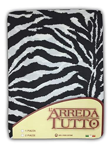Tex family Tela decorativa cubretodo, gran foulard para cubrir la cama, el sofá, tejido cebrado – 2 plazas