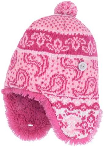 Molehill Girls Knit Earflap Beanie (Infant to Big Kids)