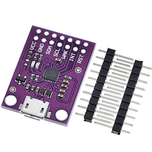 CJMCU-2112 CP2112 Kit de avaliação para a placa de depuração CCS811 USB para módulo de comunicação I2C cor púrpura (roxo)