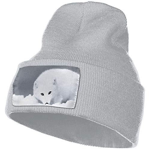 Gorro de Mujer White Fox Soft Warm Serious Style Gorro Slouchy Gorro Personalizado