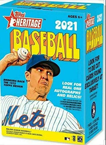 Topps 2021 Heritage Baseball Blaster Box, 8 Packungen pro Box