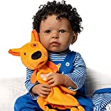 Paradise Galleries Realistic Black Toddler Boy Doll - Puppy Pal, 7-Piece Reborn Doll Gift Set with Magnetic Pacifier