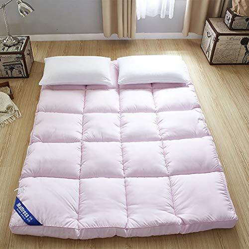 Japanese Floor Tatami Mattress Foldable Sleeping Tatami Floor Mat Comfortable Camping Mattress Double Floor Mattress Home Sleeping Pad Pink 150×200cm(59×78inch)