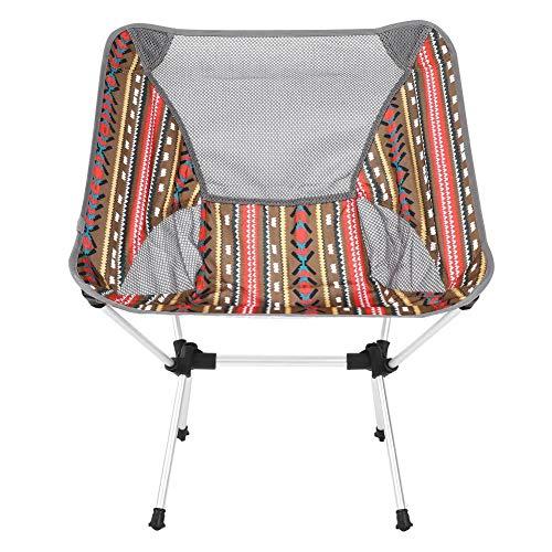 Victool Tragbarer Klappstuhl, ultraleichte, ausziehbare Mond-Außenstühle zum Angeln Camping Camping Picknick Wanderhocker mit Aufbewahrungstasche