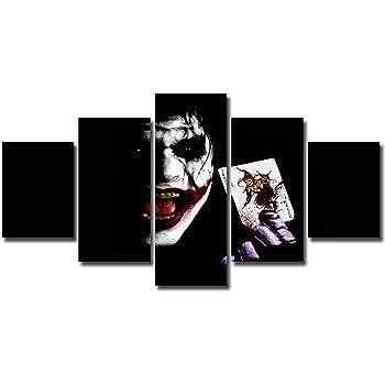Canvas Picture The Joker Cartoon Dc Comics Villain Large Wall Art Poster Print
