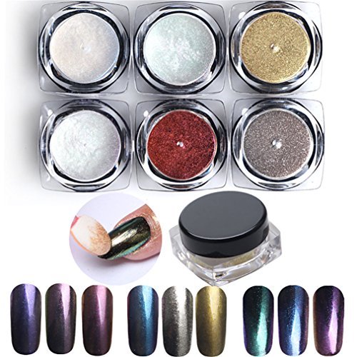 Pure Vie® Lot de 6 1g Couleur Glittery Paillettes UV Gel Vernis à Ongles Décoration Manucure #2