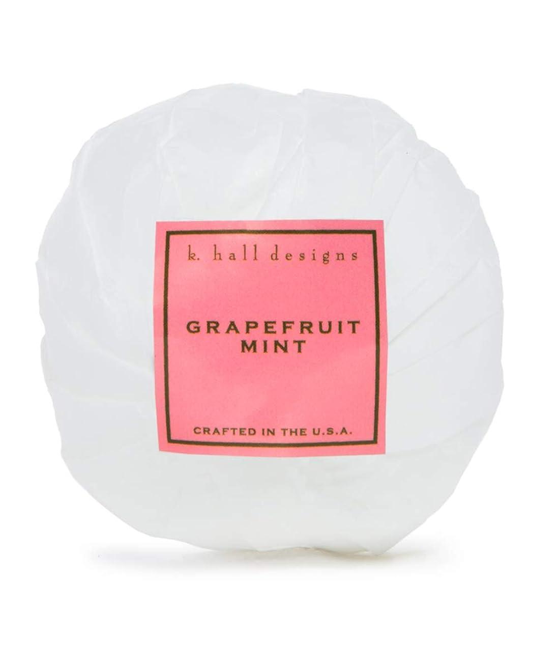 保安測定ファンk.hall designs/バスボム(入浴剤) グレープフルーツミント