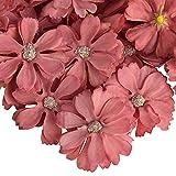 AIBAOBAO fiori artificiali Daisy Flower Heads 50Pcs, fatti a mano piccolo fiore di seta falso Gerbera petali in massa per fai da te, casa, matrimonio, corona, corsage, decorazione del partito (8)