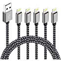 5-Pack Souina (3ft,3ft,6ft,6ft,10ft) High Speed Certified iPhone Charger
