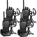 Walkie Talkie Recargable, 16 Canales PMR446 Walky Talky, Profecionales CTCSS DCS 3KM Radiocomunicación, con Auricular Incorporado Antorcha de LED, 2 Pares