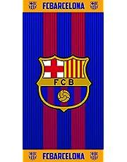 Fc Barcelona Toalla, 100% Algodón, Azulgrana, 70 x 140 cm