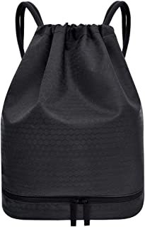 NC Waterproof Gym Bag Rucksack Bag with Drawstring Swim Bag Waterproof,