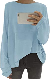 Generic Women's Pullover Loose Sweatshirt Long Sleeve Casual Crew Neck Tunic Tops
