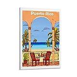 KDIK Puerto Rico Vintage-Reise-Poster auf Leinwand,