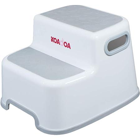 KAIDA 踏み台 子供 大人兼用 子ども 幼児 ステップ 2段 洗面所 手洗い お風呂 トイレ台 滑り止め (グレー)