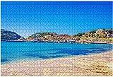1000 piezas-Puerto de soller Mallorca Famous Resort Imágenes de archivo Royalty Rompecabezas de madera DIY Niños Rompecabezas educativos Regalo de descompresión para adultos Juegos creativos Juguetes