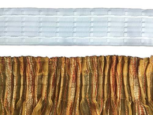 Bleistiftfaltenband für Vorhänge Vorhang Gardinenstange Locken Mod. Zigarette a Metro