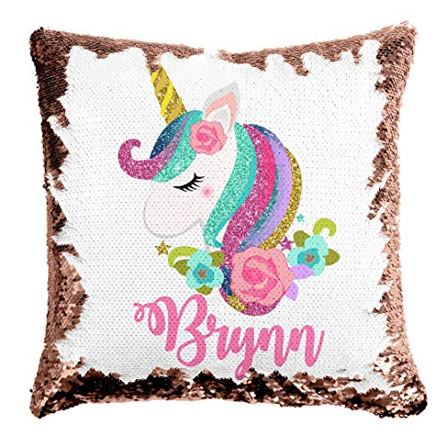 Custom Unicorn Reversible Sequin Pillow
