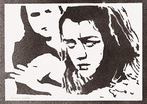 Poster Arya Stark Juego de Tronos Grafiti Hecho a Mano - Handmade Street Art - Artwork...