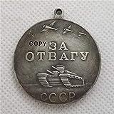 2 uds Medalla de la URSS por el Coraje CCCP Medalla por el Valor Medalla de Combate de la Unión Soviética Servicio meritorio Insignias de Rusia de la Segunda Guerra Mundial