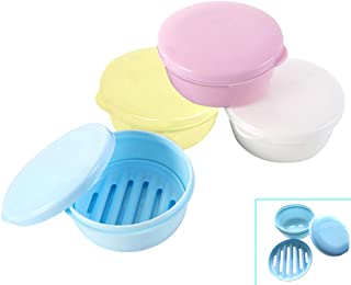 PUTING Round Seal Waterproof Soap Protectors Saver Dish Portable Soap Container Box Home Shower Outdoor Camping