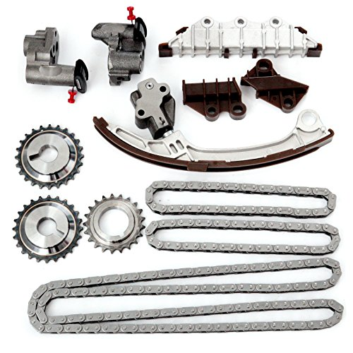 OCPTY Timing Chain Kit for 2001-2003 Infiniti QX4 2001-2004 for NISSAN Pathfinder 3.5L V6 GAS DOHC