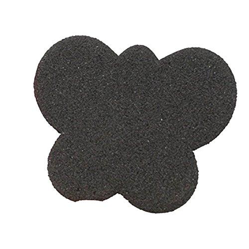 Boowhol-Éponge Demi-Cour Avant-Pied Pad Talons Hauts soulagement de la Douleur épaisse Semelle antidérapante Femelle Souple et Confortable (1 Paire) (Noir)