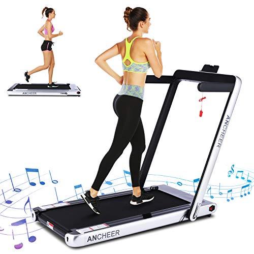 ANCHEER 2 in 1 Smart Folding Treadmill, 2.25HP Under...
