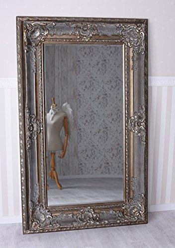 Gigantischer Spiegel Silber Barockspiegel Ankleidespiegel Flurspiegel Palazzo Exklusiv