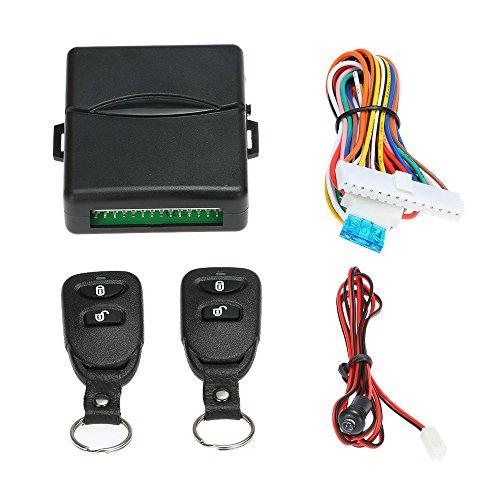 Kkmoon - Kit per apertura senza chiave delle portiere auto, con Telecomando universale e chiusura centralizzata, sistema di chiusura Keyless con pulsante per l'apertura del bagagliaio.