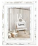 ZEP SY957W Rivoli Holzbilderrahmen, Holz, vintage look / weiß, 13 x 18 cm