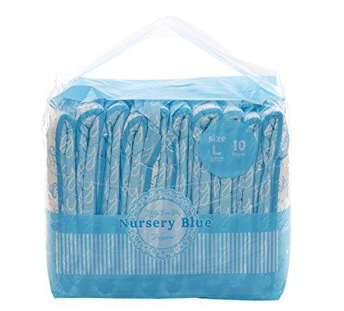 LittleForBig impreso para adultos calzoncillos pañales 10 piezas-vivero azul L